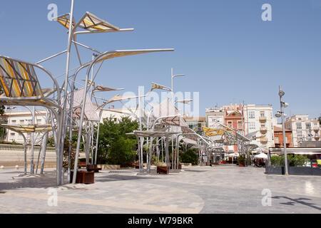 Plaza del Rey in Cartegena, Spain - Stock Photo