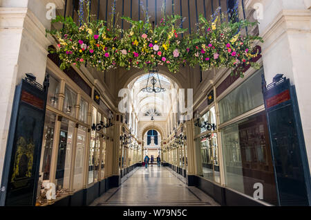 Nantes, France - May 12, 2019: Passage Pommeraye is a shopping mall in the centre of Nantes, France - Stock Photo