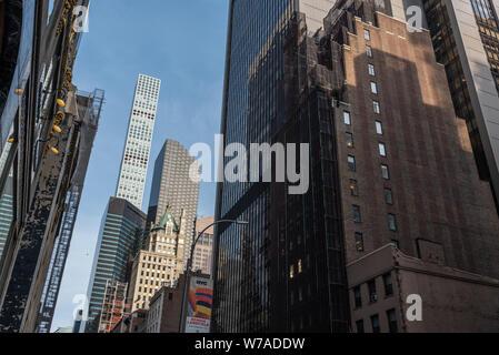 57th Street, Manhattan, New York City, USA - Stock Photo