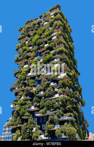 Bosco Verticale (Vertical Forest), Porta Nuova, Milan, Italy - Stock Photo