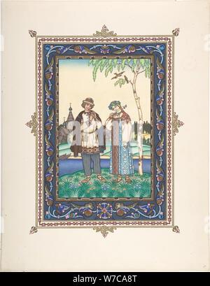 Illustration for the Fairy tale Snegurochka, c. 1925. Artist: Zvorykin, Boris Vasilievich (1872-after 1935) - Stock Photo