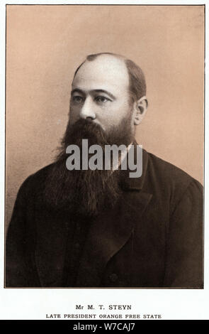 Martinus Theunis Steyn, South African statesman c1900. Artist: Anon - Stock Photo