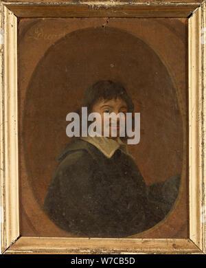Portrait of the philosopher René Descartes (1596-1650), 18th century. - Stock Photo