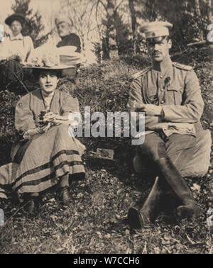 Countess Natalia Sergeyevna Sheremetyevskaya and Grand Duke Michael Alexandrovich of Russia. - Stock Photo