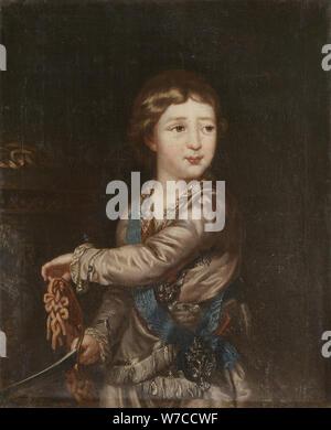 Portrait of Grand Duke Alexander Pavlovich (1777-1825) as Child. - Stock Photo