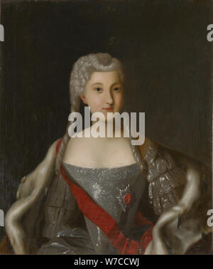 Portrait of Princess Anna Leopoldovna (1718-1746), tsar's Ivan VI mother. - Stock Photo