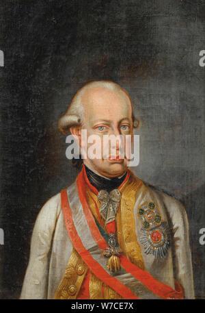 Portrait of Leopold II, Holy Roman Emperor (1747-1792). - Stock Photo