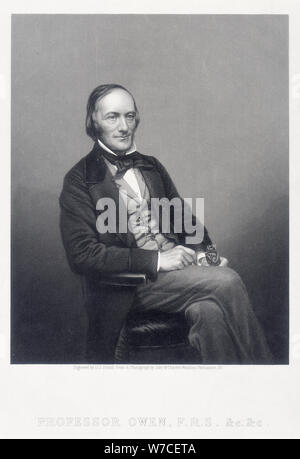 Sir Richard Owen, English zoologist, c1860.  Artist: DJ Pound - Stock Photo