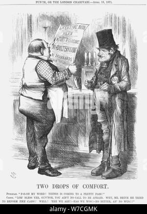 'Two Drops of Comfort', 1871. Artist: Joseph Swain - Stock Photo