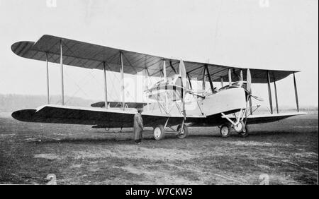 Aeroplane in which Alock and Brown made the first non-stop transatlantic flight, 1919. Artist: Unknown - Stock Photo