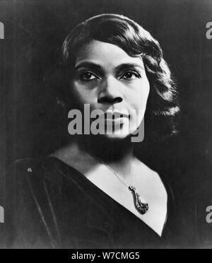Marian Anderson (1899-1993), American contralto. Artist: Unknown - Stock Photo