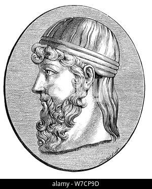 Plato (c428-c348 BC), Ancient Greek philosopher. Artist: Unknown - Stock Photo