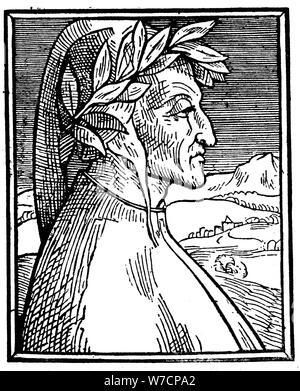 Dante Alighieri (1265-1321), Italian poet, 1521. Artist: Unknown - Stock Photo
