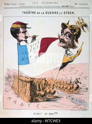 'Echec au Roi', Franco-Prussian War, 1870-1871.  Artist: Anon