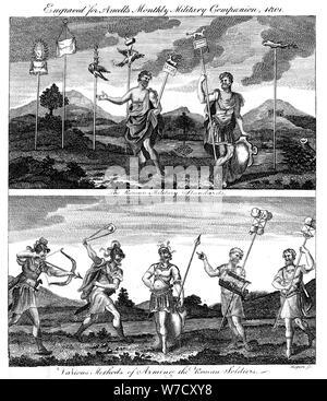 Roman soldiers, 1801. Artist: Unknown - Stock Photo