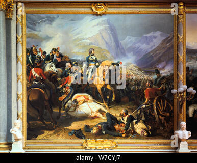 'Battle of Rivoli won by the Emperor Napoleon I', 14 January 1797, (c1835-1884). Artist: Felix Henri Emmanuel Philippoteaux - Stock Photo
