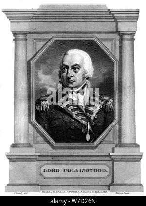 Admiral Cuthbert Collingwood (1750-1810), 1st Baron Collingwood, 1837.Artist: Warren - Stock Photo