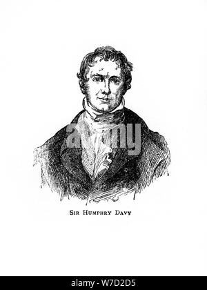 Sir Humphry Davy, Cornish chemist and physicist, (20th century). Artist: Unknown - Stock Photo