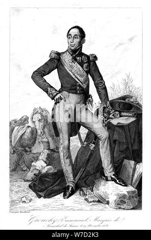 Emmanuel, marquis de Grouchy (1766-1847), French general and marshal, 1839.Artist: Geille - Stock Photo
