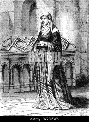 Matilda of Scotland (1080-1118), Queen of Henry I. Artist: Unknown - Stock Photo