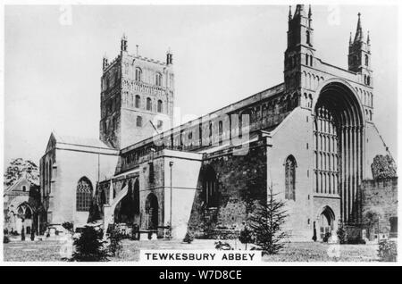 Tewkesbury Abbey, 1937. Artist: Unknown - Stock Photo