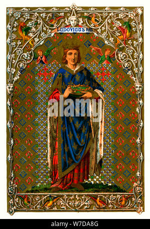 St Louis (Louis IX, King of France), 1886. Artist: Unknown