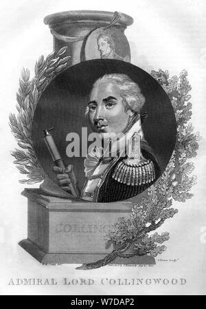 Admiral Lord Cuthbert Collingwood (1748-1810), 1816.Artist: I Brown - Stock Photo