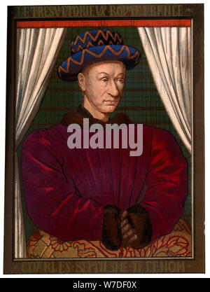 King Charles VII of France (1403-1461), c1445 (1849). Artist: Unknown - Stock Photo