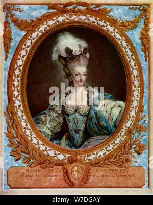 Marie Antoinette (1755-1793), queen consort of King Louis XVI of France, 1777 (1931).Artist: Jean-François Janinet - Stock Photo