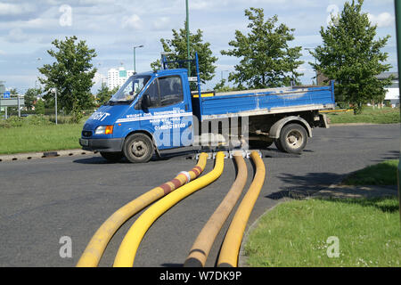 Flood zone, high volume water pumping - Stock Photo