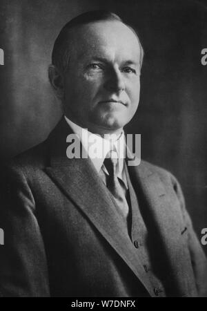 Calvin Coolidge (1872-1933), thirtieth president of the United States, 1933. Artist: Unknown - Stock Photo
