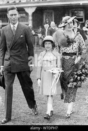 King George VI, Queen Elizabeth, and Princess Elizabeth, 1937. Artist: Unknown