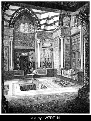 The Arab Hall, c1880-1882. Artist: Frederic Leighton - Stock Photo