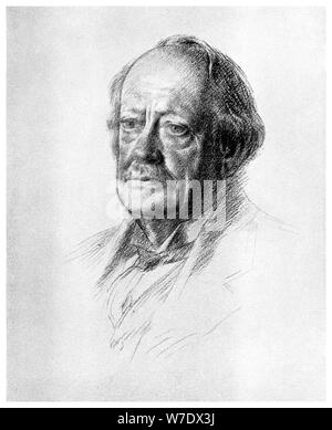 Sir JJ Thomson, British physicist, 1932 (1956). Artist: Unknown - Stock Photo