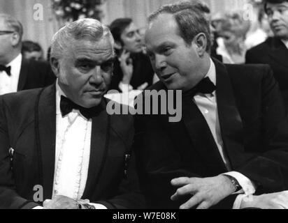 Prince Konstantin of Bavaria talking to Lorne Greene, 'Banbi' Awards, Munich, Germany, 1968. Artist: Unknown - Stock Photo