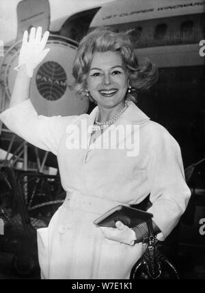 Zsa Zsa Gabor, Hungarian-born American actress and socialite, c1950s(?). Artist: Unknown - Stock Photo
