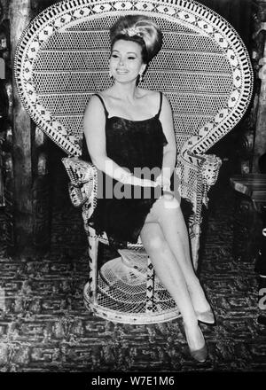 Hungarian-born American actress and socialite Zsa Zsa Gabor, London, c1960s(?). Artist: Unknown - Stock Photo