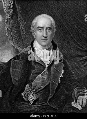Richard Wellesley, Marquis Wellesley, British politician and colonial administrator, 1813 (c1857).Artist: G Adcock - Stock Photo