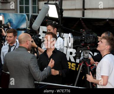 Jul 23, 2019 - London, England, UK - Jason Statham attending Fast & Furious: Hobbs & Shaw special film screening, Curzon Mayfair - Stock Photo