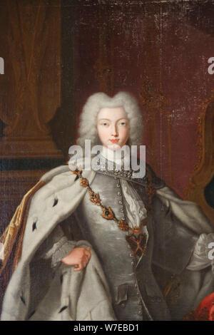 'Portrait of Peter II', c1728. Artist: Unknown - Stock Photo