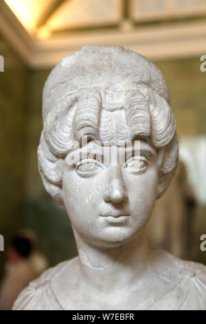 Portrait bust of Lucilla, wife of the Roman Emperor Lucius Verus, c160-c170. Artist: Unknown - Stock Photo