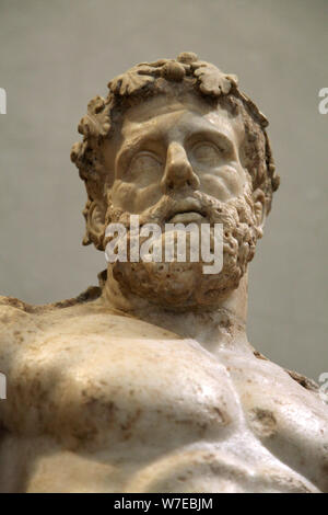 Statue of Heracles, 2nd century. Artist: Unknown - Stock Photo
