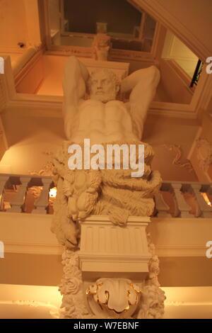 Statue, interior of the Taleon Imperial Hotel, St Petersburg, Russia, 2011.  Artist: Sheldon Marshall - Stock Photo