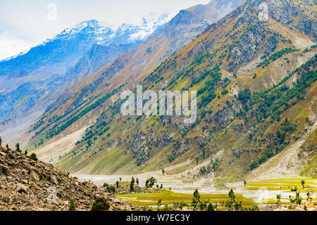 landscape of beautiful mountains and vallies of northern areas of pakistan. - Stock Photo