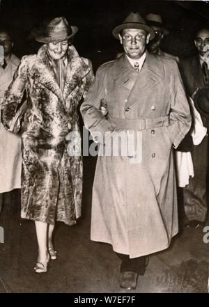 Hermann Göring, Nazi politician and military leader, with his wife Emmy, c1935-c1945. Artist: Unknown - Stock Photo