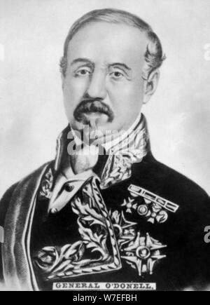 Don Leopoldo O'Donnell y Jorris (1809-1867), Spanish general and statesman, c1910. Artist: Unknown - Stock Photo