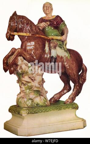 A Ralph Wood equestrian figure of King William III, in the guise of a Roman Emperor, 1785, (1923). Artist: Ralph Wood - Stock Photo