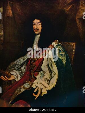 'King Charles II', 1660s (1934). Artist: John Michael Wright. - Stock Photo