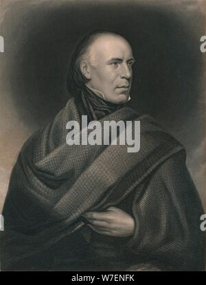 Allan Cunningham (1784-1842), Scottish poet and author, 1840. Artist: J Thomson. - Stock Photo