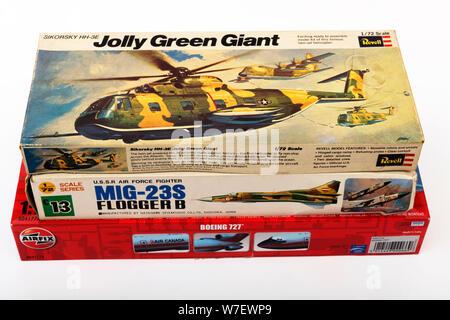 Plastic model kits - Stock Photo